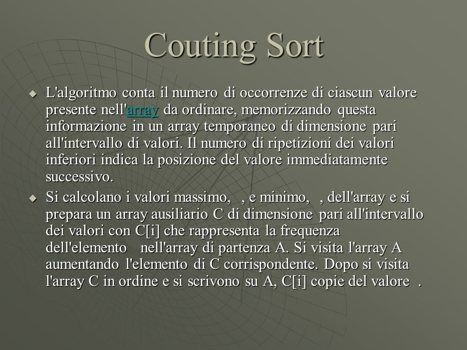 Couting Sort