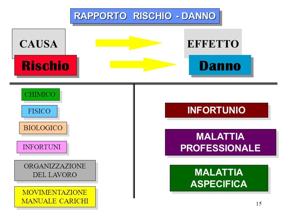 RAPPORTO RISCHIO - DANNO