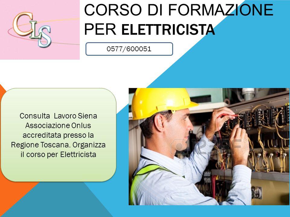 Corso di formazione per Elettricista