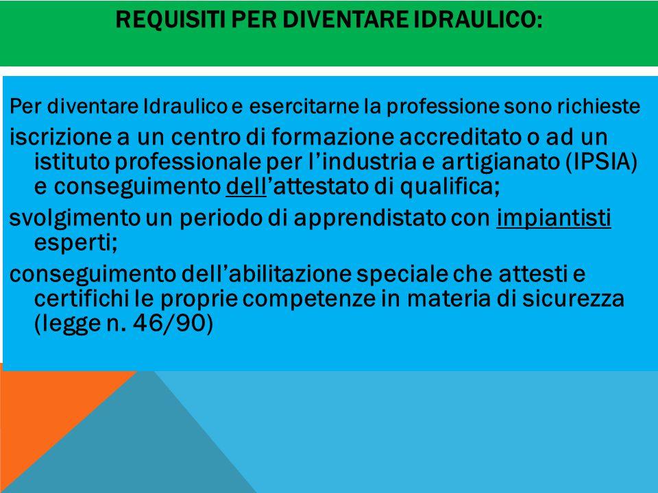Requisiti per diventare idraulico: