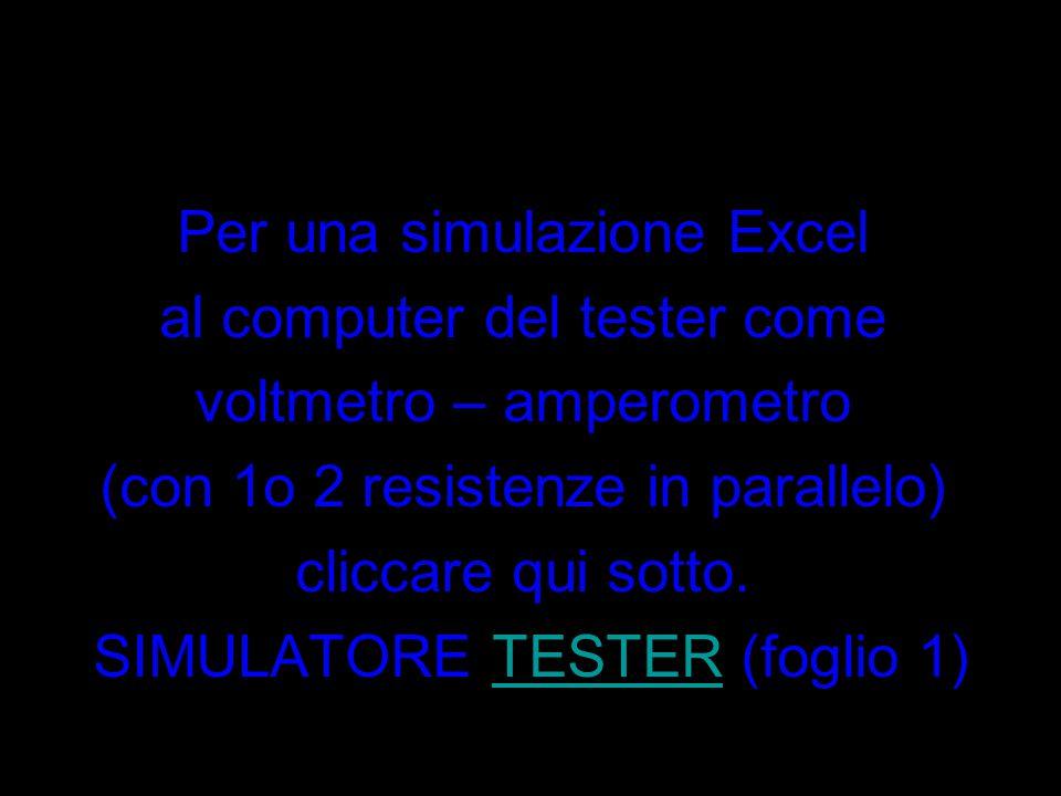 Per una simulazione Excel al computer del tester come