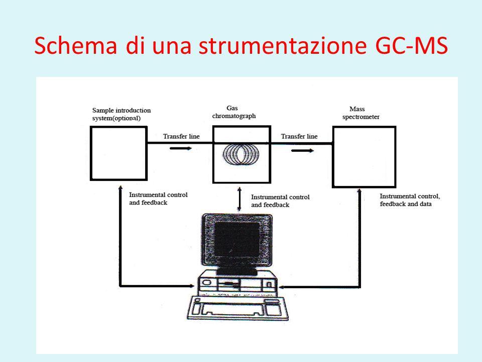 Schema di una strumentazione GC-MS