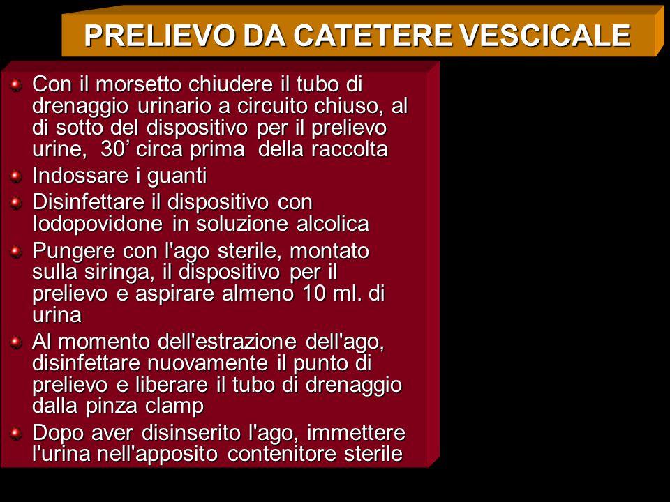 PRELIEVO DA CATETERE VESCICALE