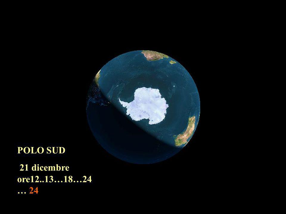 POLO SUD 21 dicembre ore12..13…18…24 … 24
