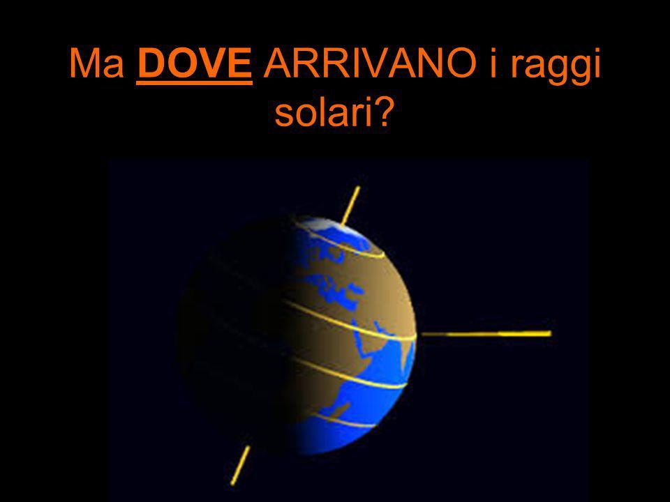 Ma DOVE ARRIVANO i raggi solari