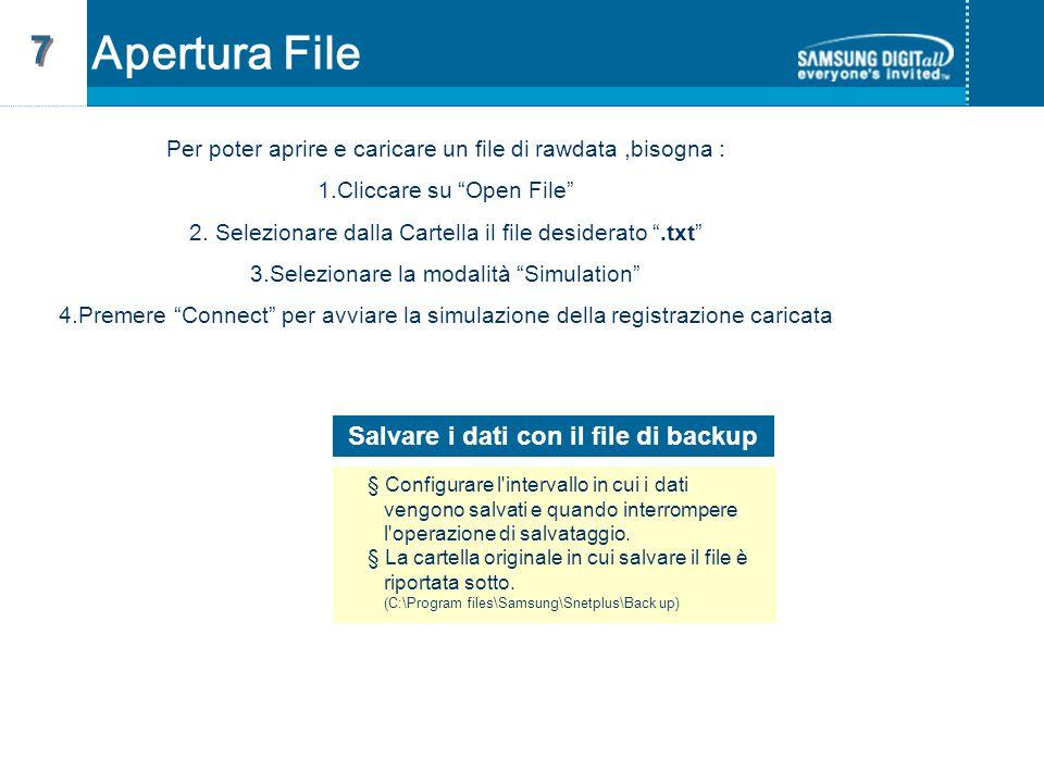 Salvare i dati con il file di backup