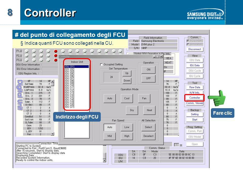 # del punto di collegamento degli FCU
