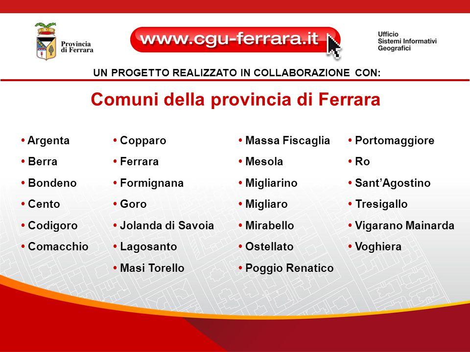 Comuni della provincia di Ferrara