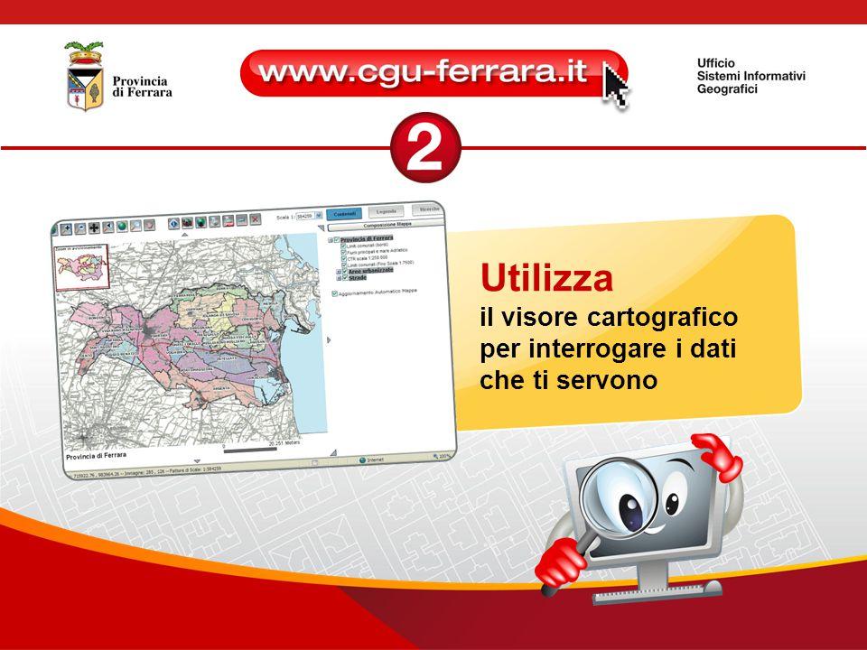 Utilizza il visore cartografico per interrogare i dati che ti servono