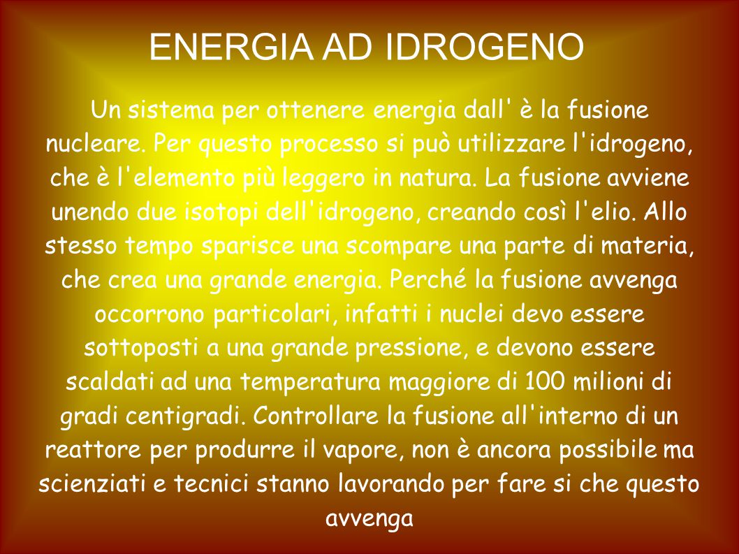Energia ad idrogeno your text ppt scaricare - Si puo dividere una finestra in due ...