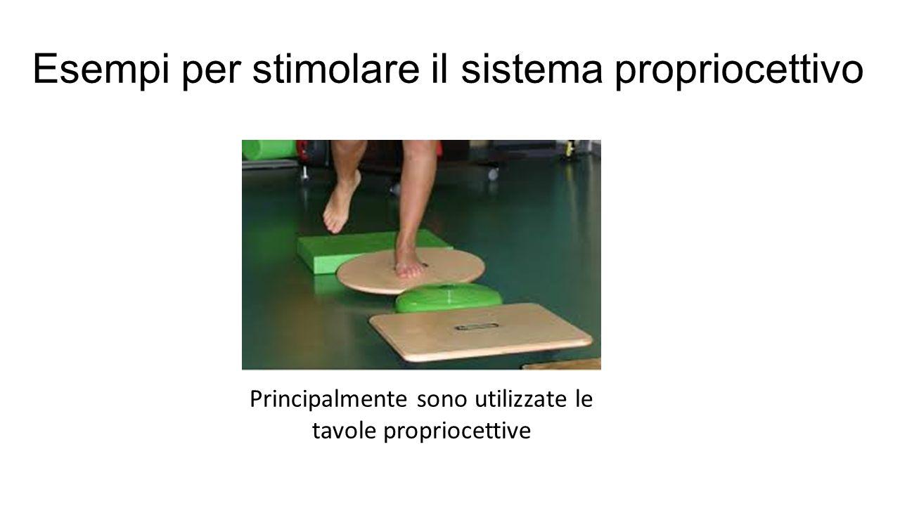 Esempi per stimolare il sistema propriocettivo