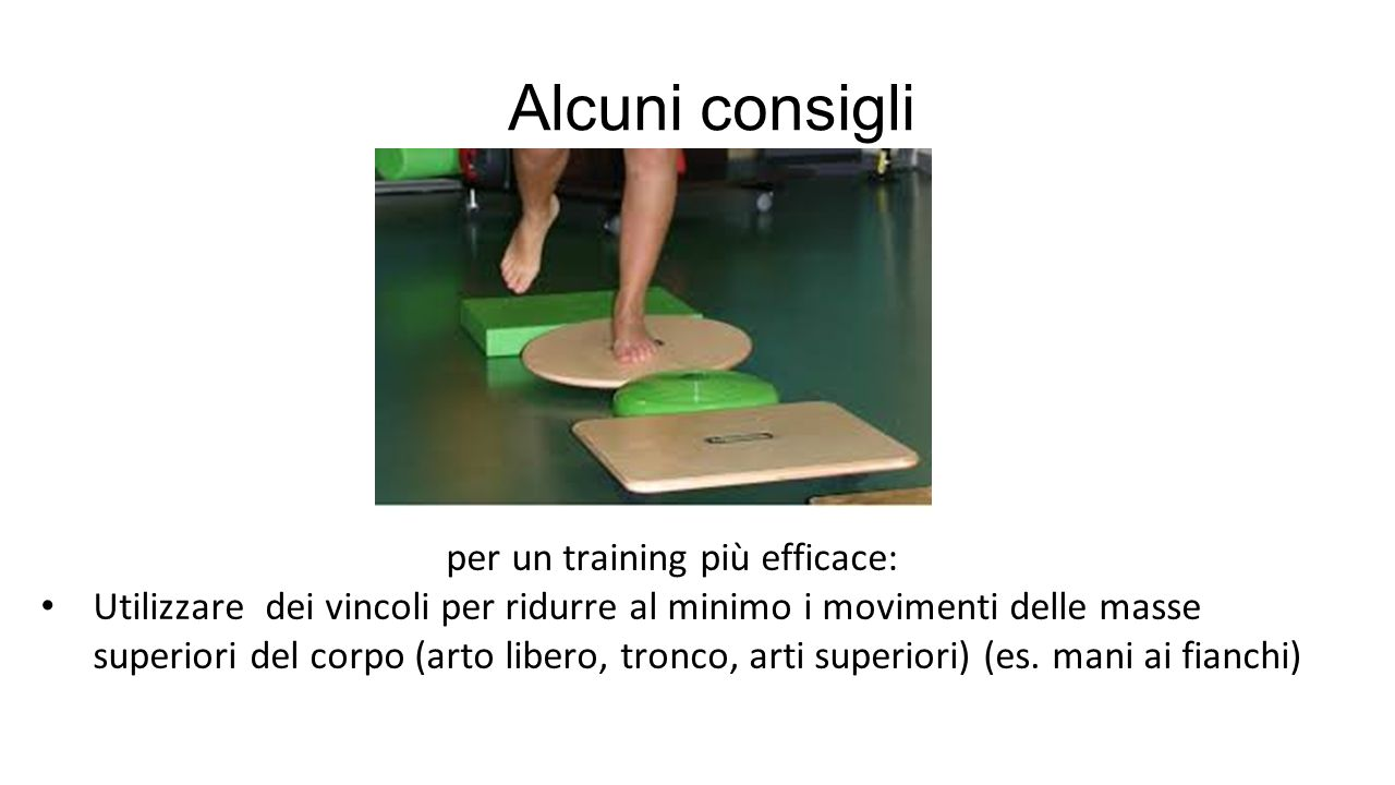 per un training più efficace: