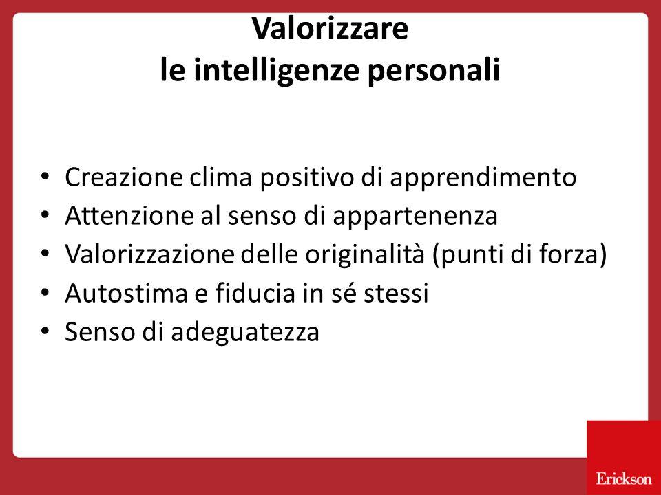 Valorizzare le intelligenze personali