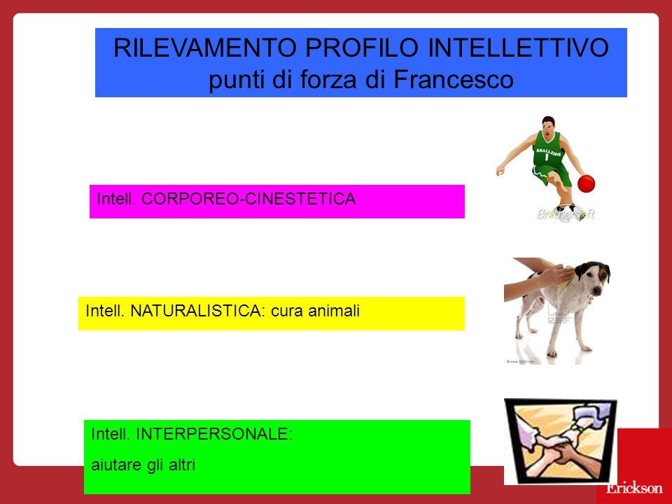 RILEVAMENTO PROFILO INTELLETTIVO punti di forza di Francesco