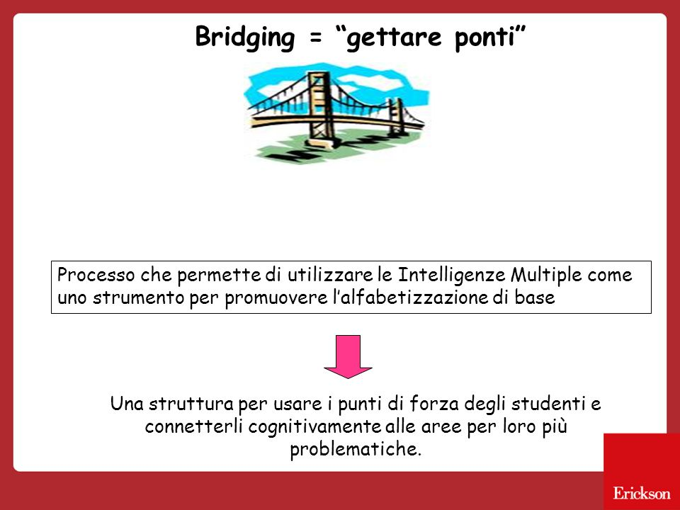 Bridging = gettare ponti