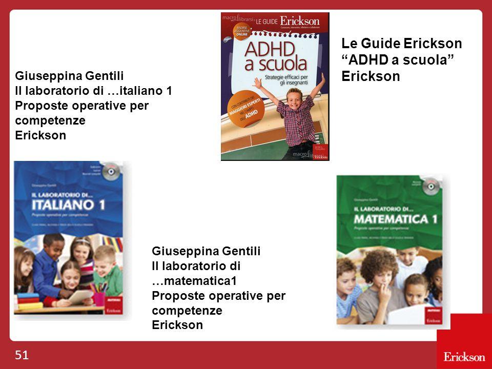 Le Guide Erickson ADHD a scuola Erickson Giuseppina Gentili