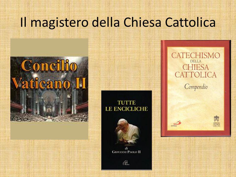 Il magistero della Chiesa Cattolica