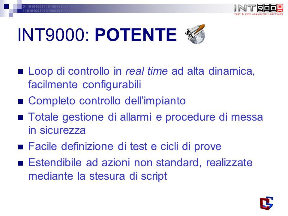INT9000: POTENTE Loop di controllo in real time ad alta dinamica, facilmente configurabili. Completo controllo dell'impianto.