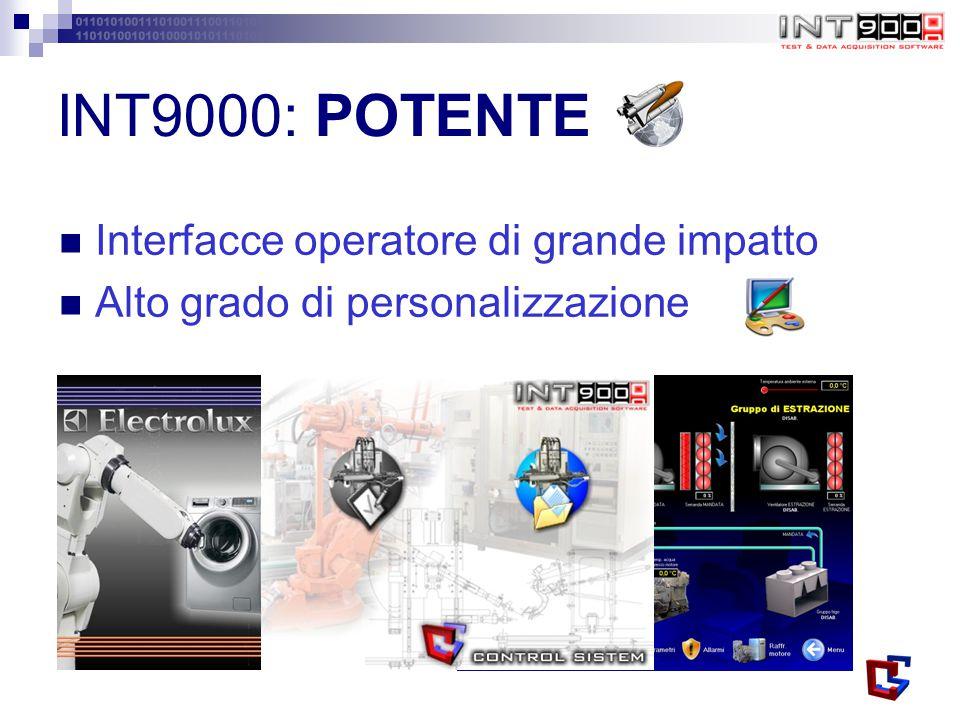 INT9000: POTENTE Interfacce operatore di grande impatto