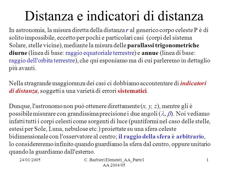 Distanza e indicatori di distanza