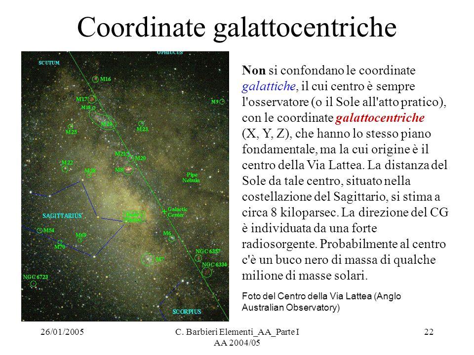 Coordinate galattocentriche