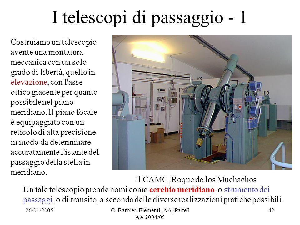 I telescopi di passaggio - 1