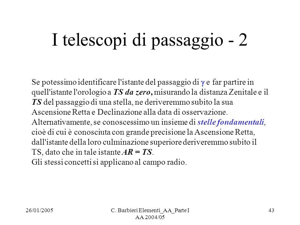 I telescopi di passaggio - 2