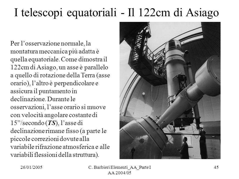 I telescopi equatoriali - Il 122cm di Asiago