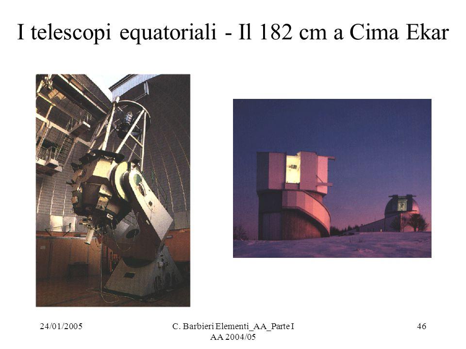 I telescopi equatoriali - Il 182 cm a Cima Ekar