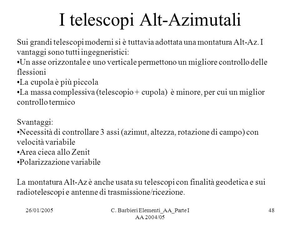 I telescopi Alt-Azimutali