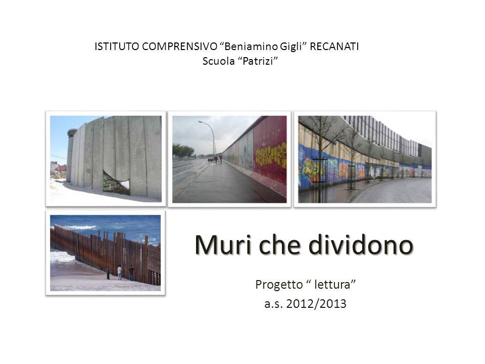 Progetto lettura a.s. 2012/2013