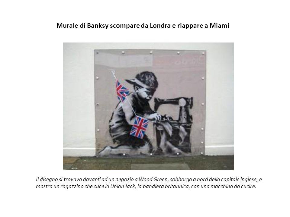 Murale di Banksy scompare da Londra e riappare a Miami