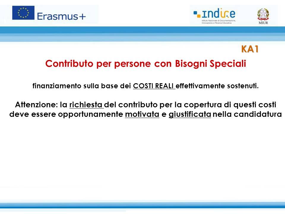 KA1 Contributo per persone con Bisogni Speciali