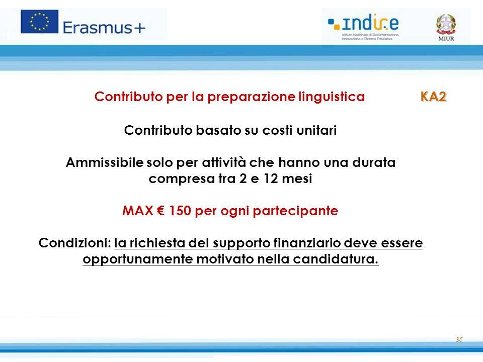 Contributo per la preparazione linguistica KA2