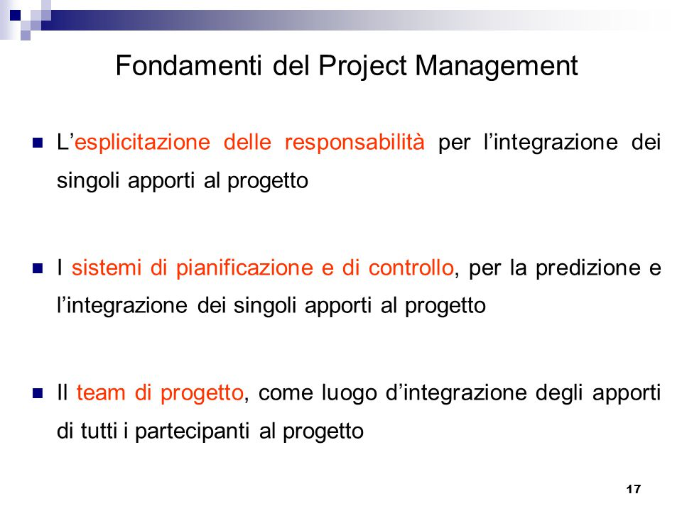 Fondamenti del Project Management