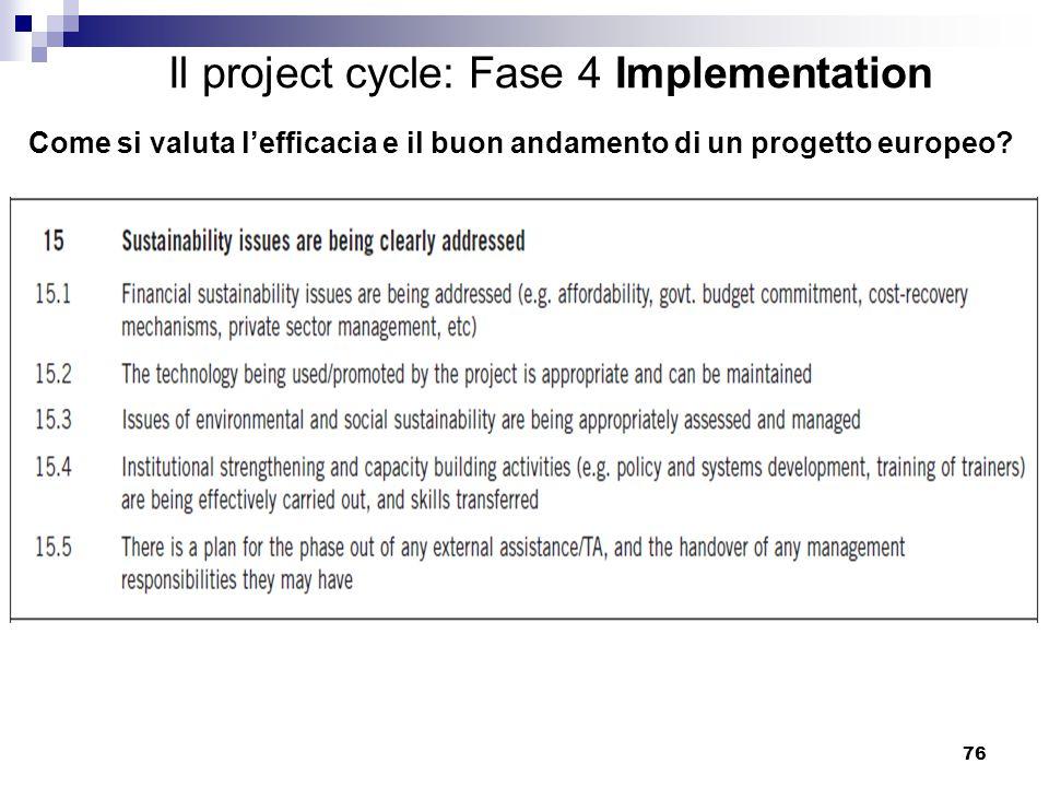Come si valuta l'efficacia e il buon andamento di un progetto europeo