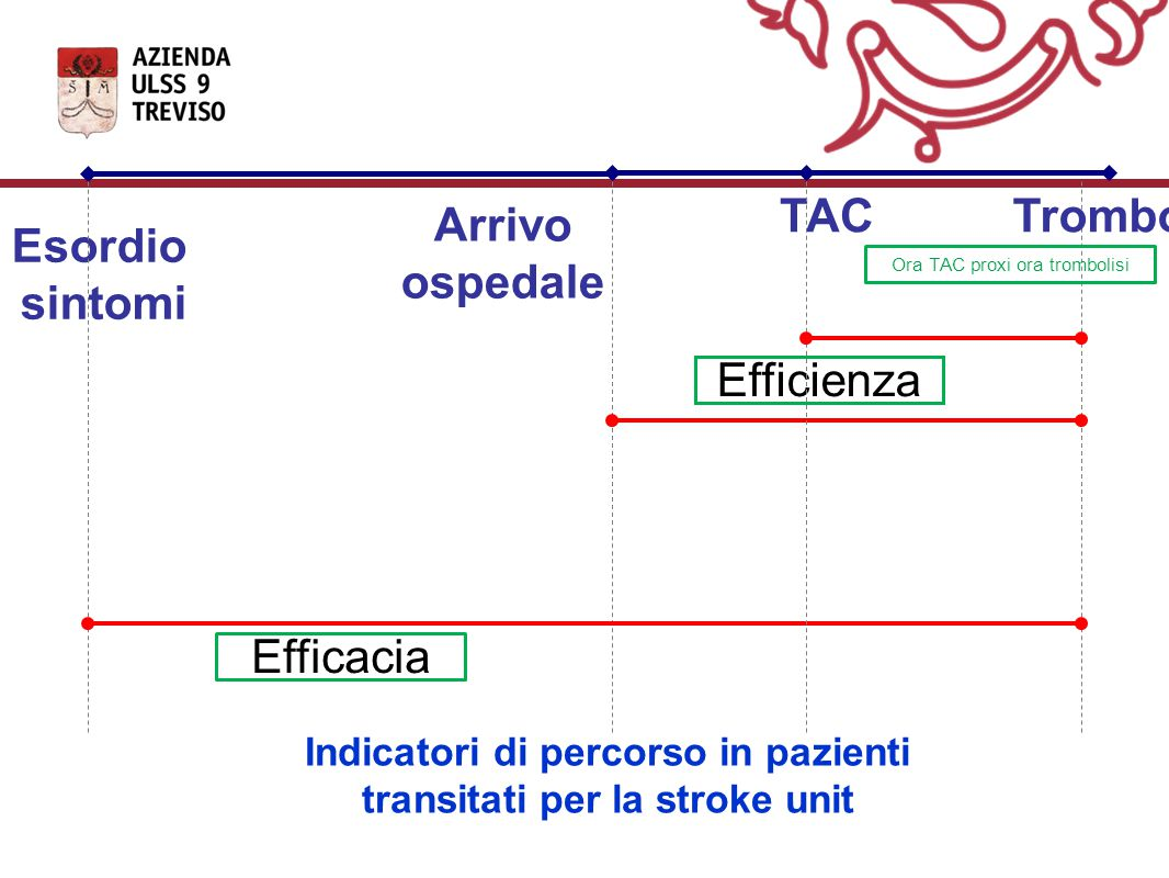 Indicatori di percorso in pazienti transitati per la stroke unit