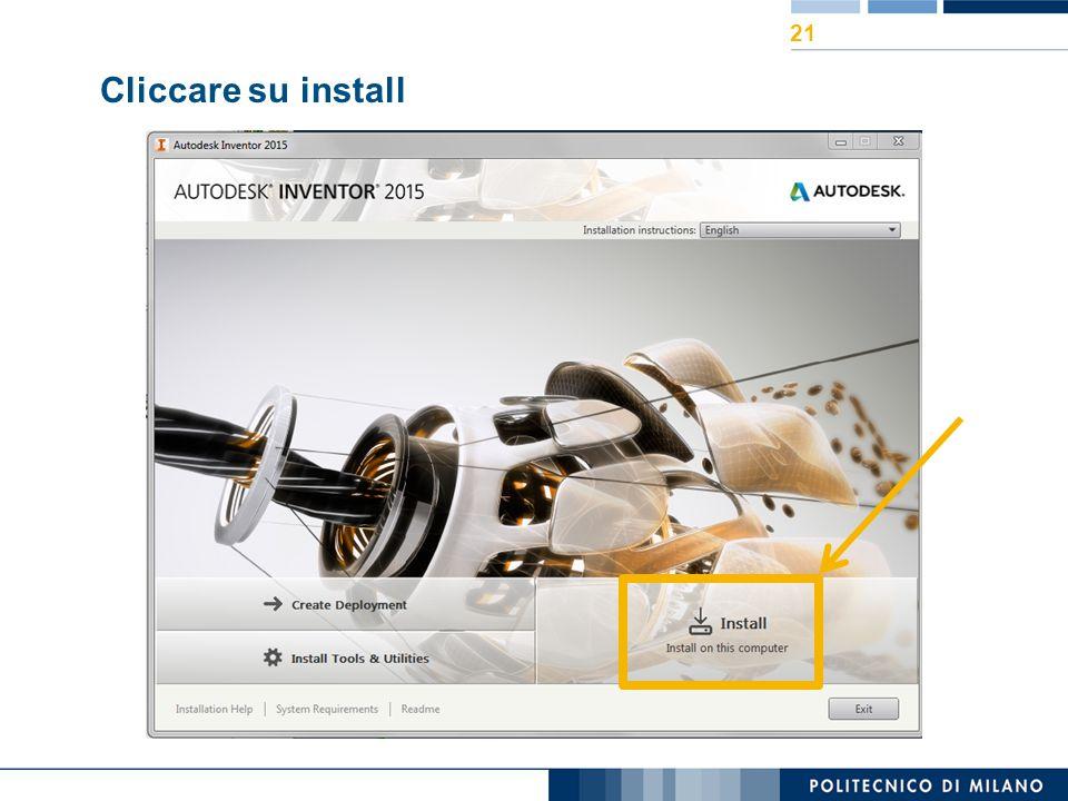 Cliccare su install