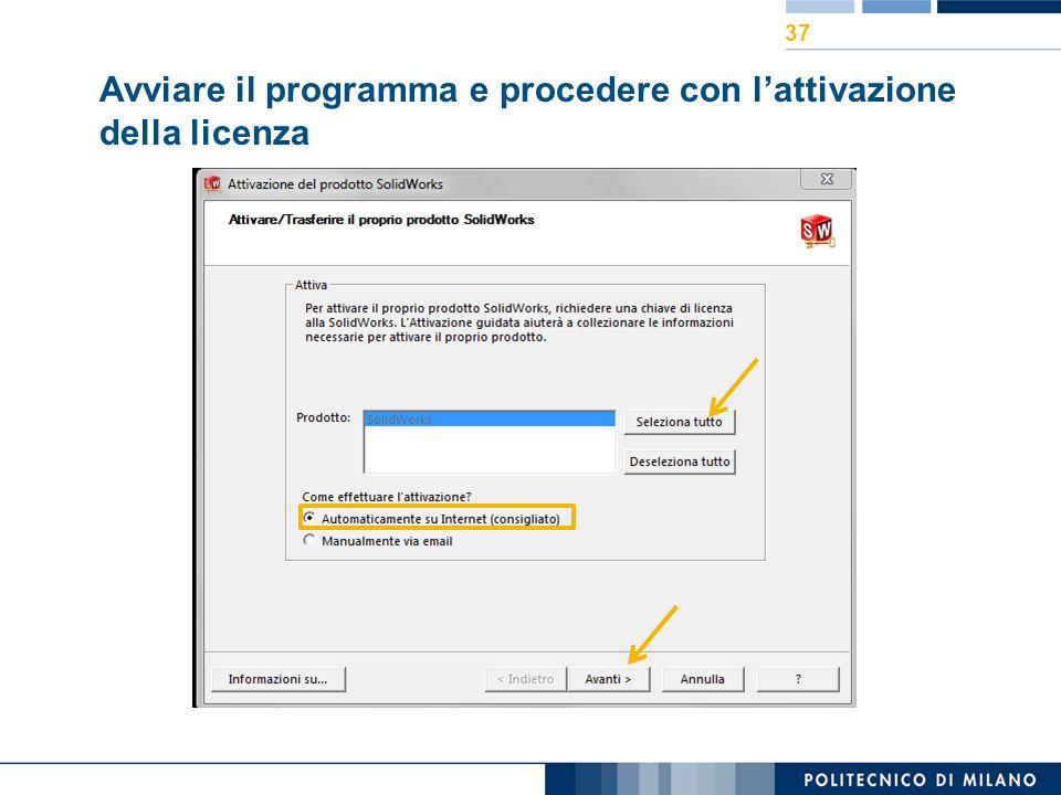 Avviare il programma e procedere con l'attivazione della licenza