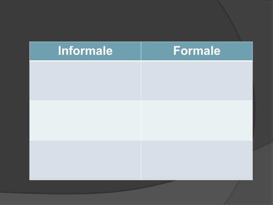 Informale Formale