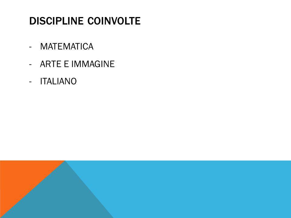 DISCIPLINE COINVOLTE MATEMATICA ARTE E IMMAGINE ITALIANO