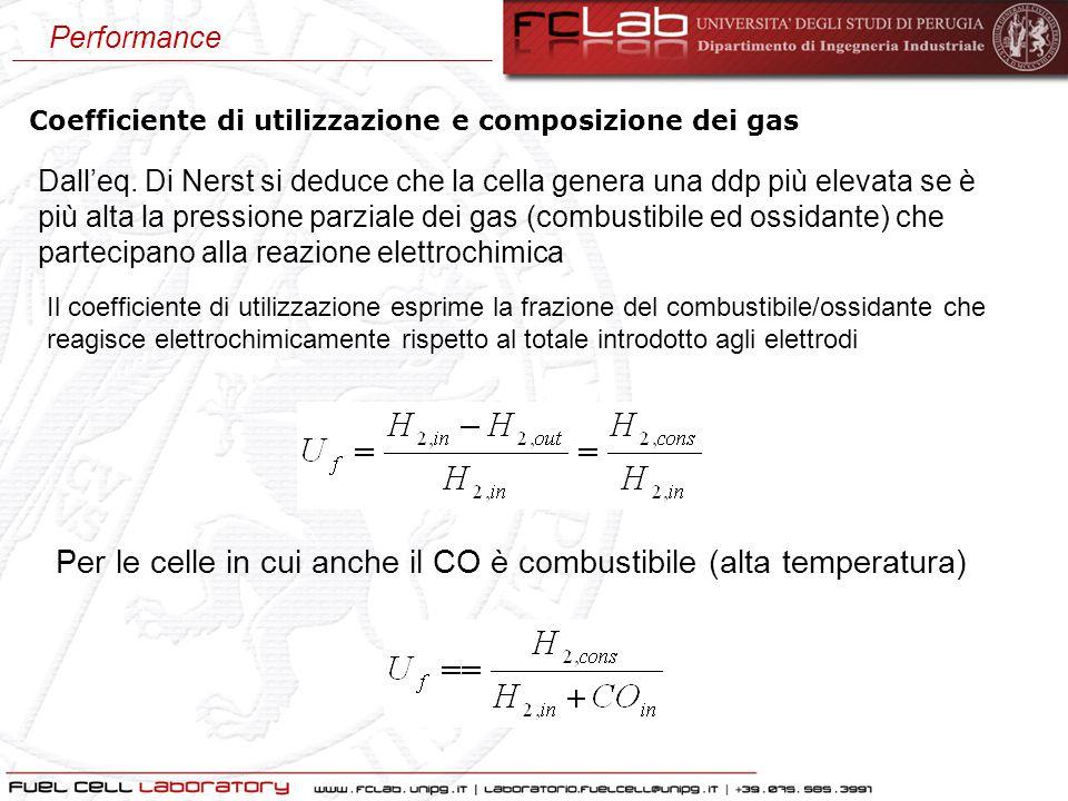 Per le celle in cui anche il CO è combustibile (alta temperatura)