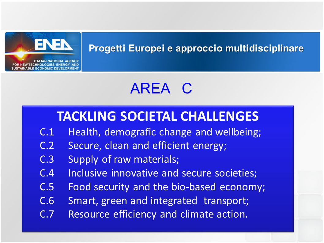 TACKLING SOCIETAL CHALLENGES