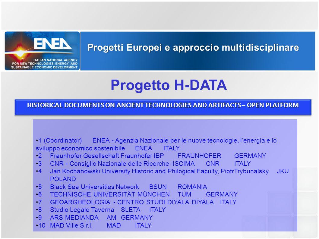 Progetto H-DATA Progetti Europei e approccio multidisciplinare