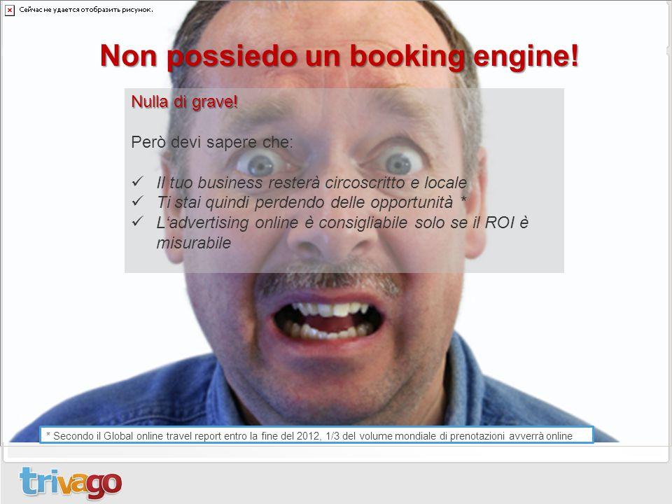 Non possiedo un booking engine!