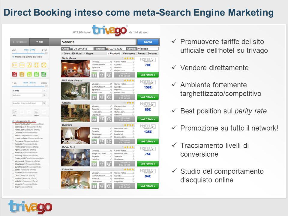 Direct Booking inteso come meta-Search Engine Marketing