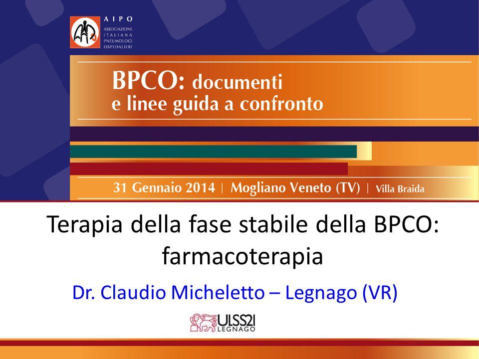 Terapia della fase stabile della BPCO: farmacoterapia