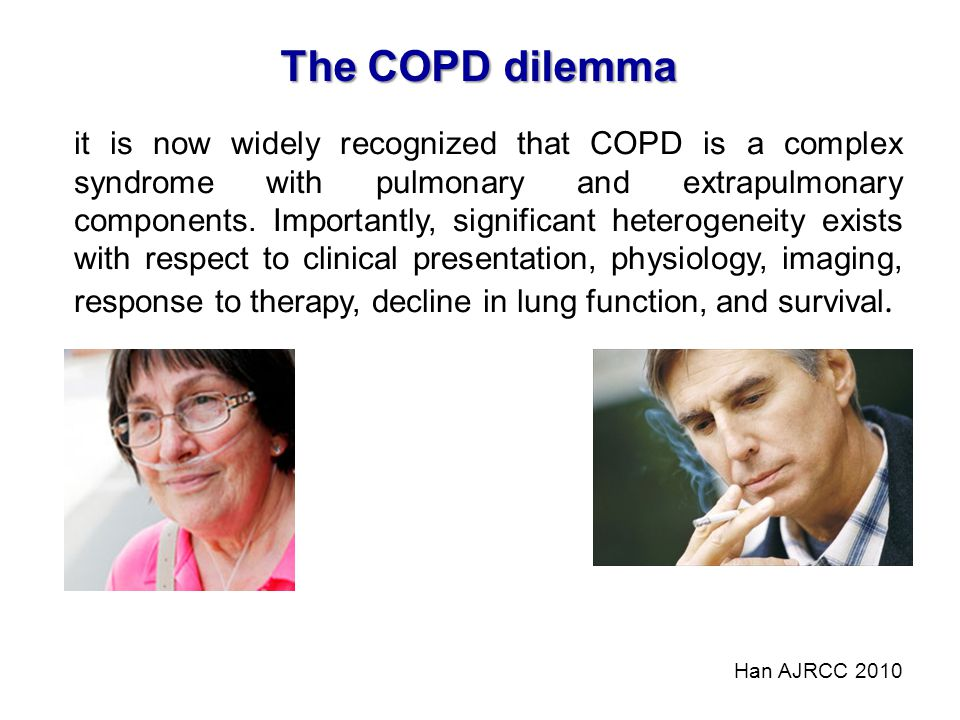 The COPD dilemma