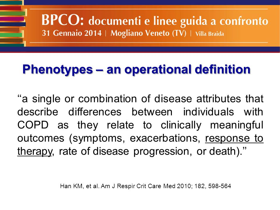 Phenotypes – an operational definition