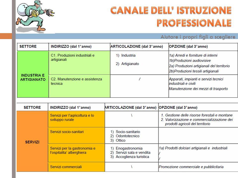 CANALE DELL' ISTRUZIONE PROFESSIONALE